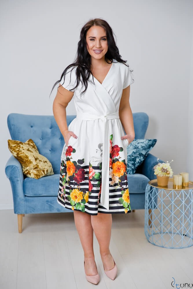Sukienka ARRIVA Plus Size Wzór 1