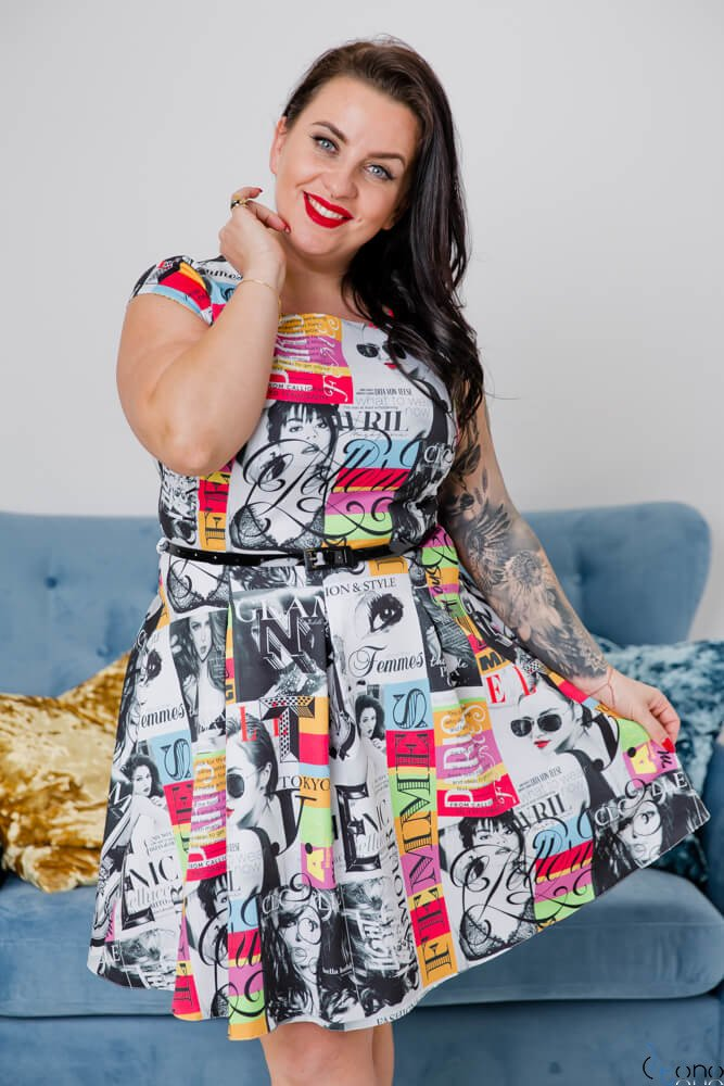 Sukienka BISCOTTO Plus Size Wzór 2