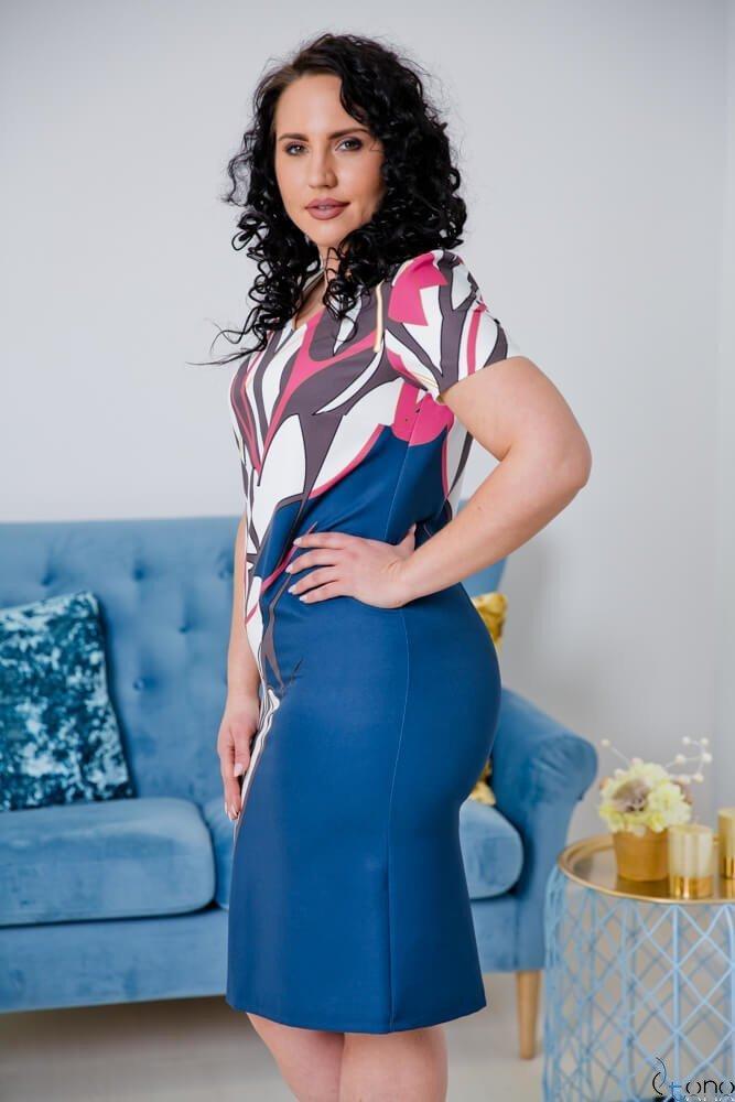 Sukienka CRISTINE Plus Size Wzór 5
