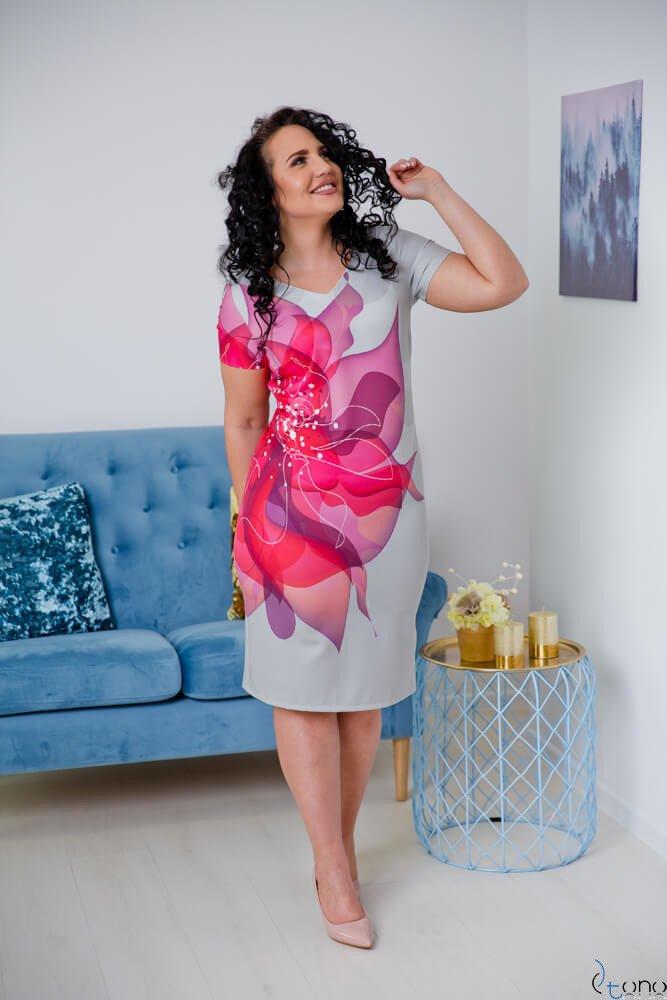 Sukienka CRISTINE Plus Size Wzór 9