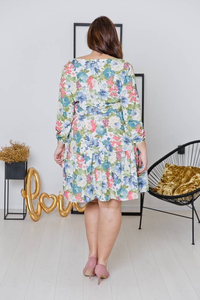 Sukienka FLEUR Plus Size Wzór 2