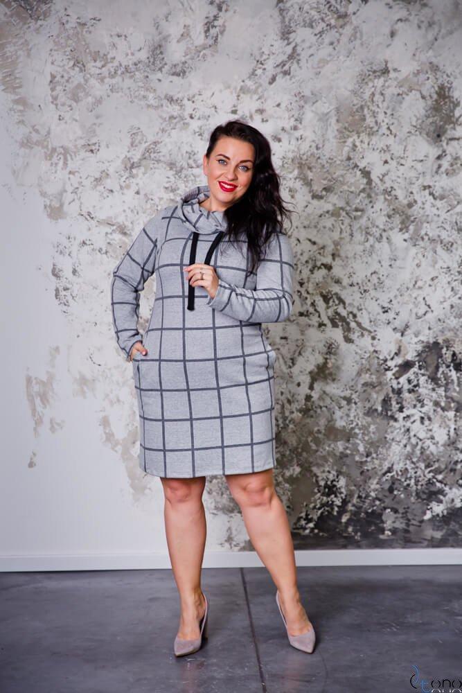 Sukienka GRIDA Plus Size Wzór 1