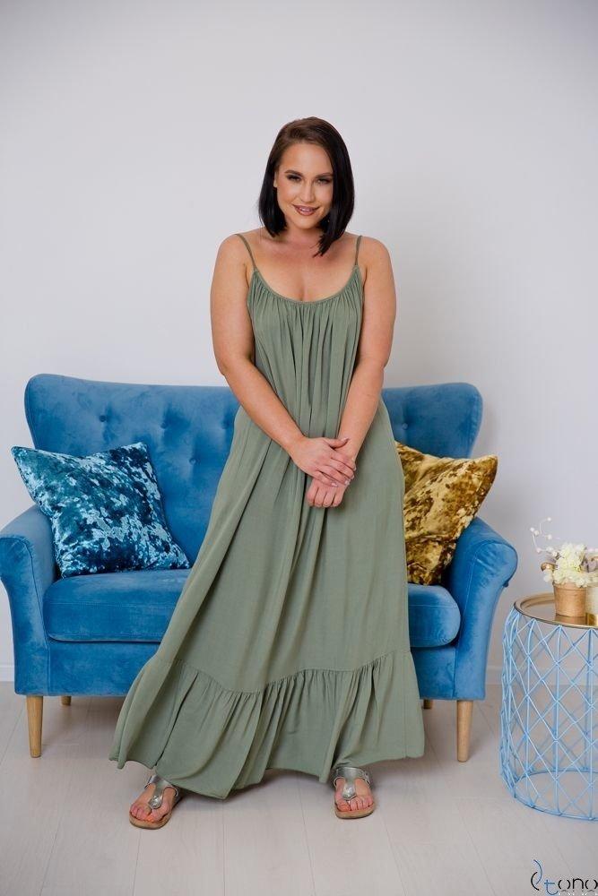 Sukienka LAMIRA Khaki Plus Size Maxi