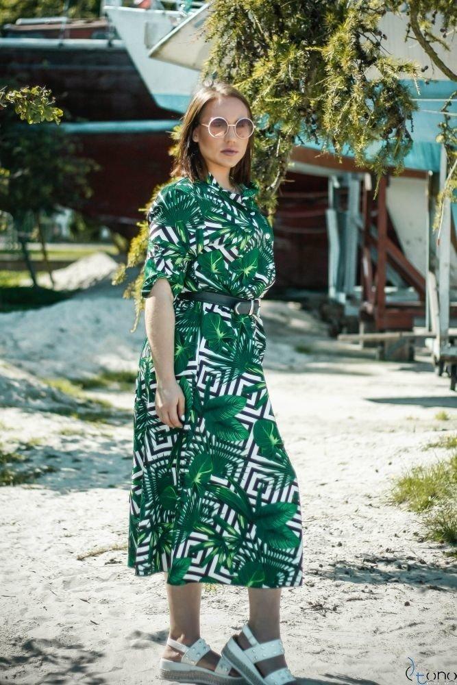 Sukienka MEDINE Plus Size Wzór 1
