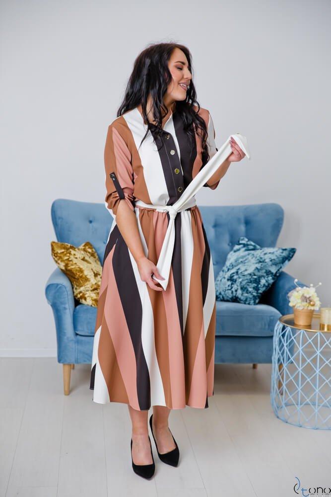 Sukienka RAVELA Plus Size Wzór 1