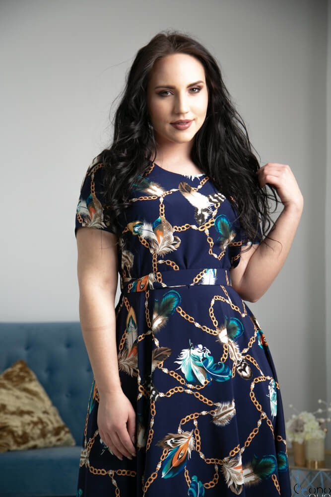 Sukienka ROSITA Plus Size Wzór 1