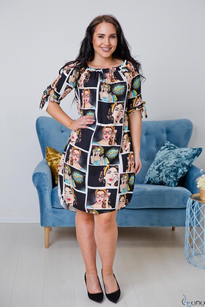 Sukienka SOPRANA Plus Size Wzór 5