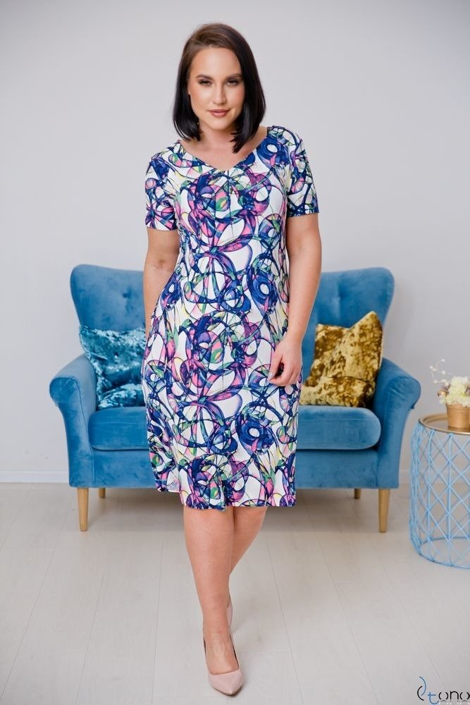 Sukienka STAMPINA Plus Size Wzór 16