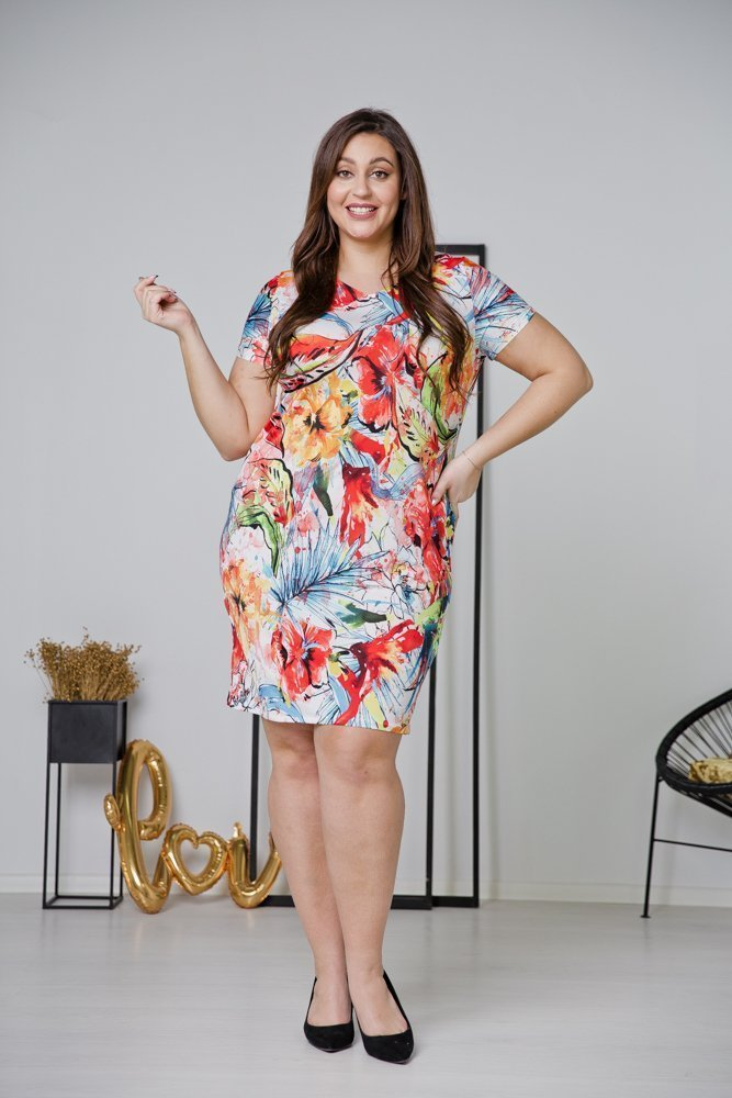 Sukienka STAMPINA Plus Size Wzór 33