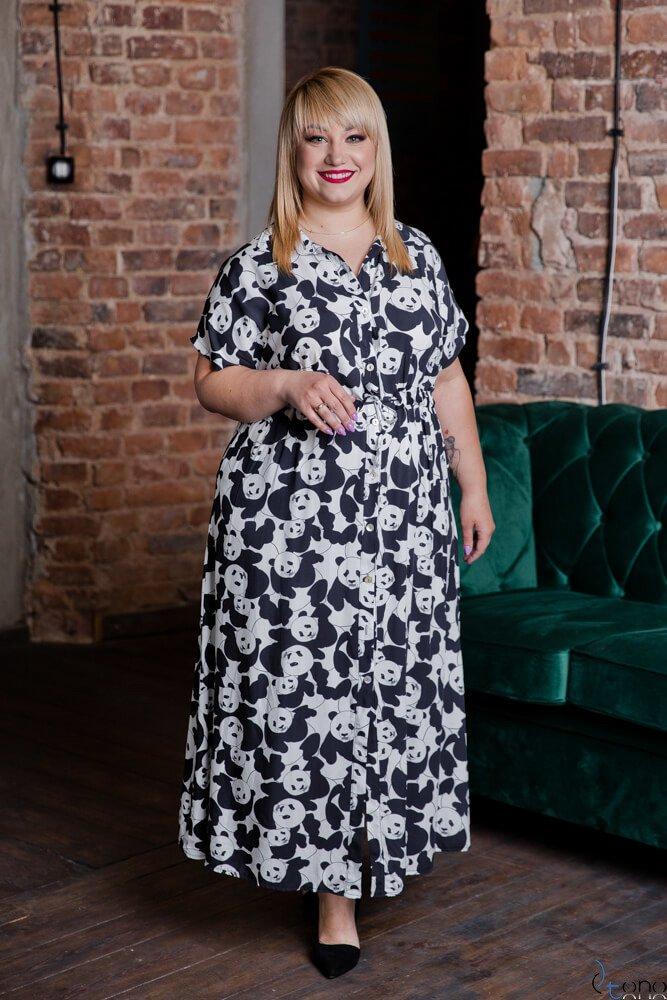 Sukienka TEBEO Plus Size Wzór 3