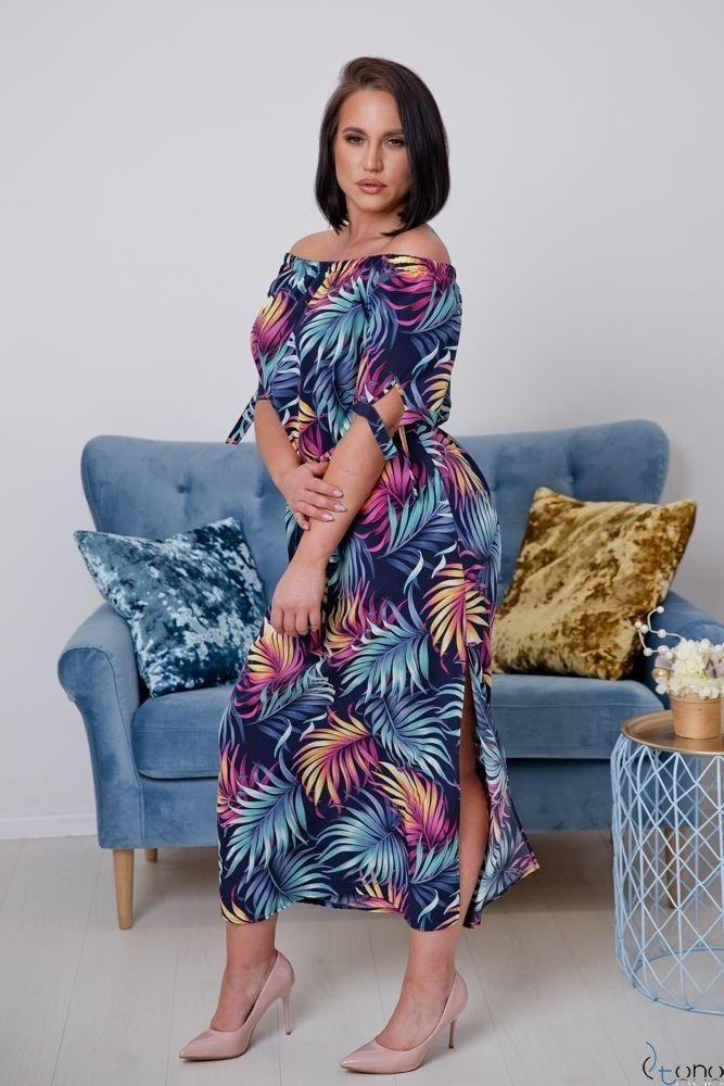 Sukienka TROPICANA Plus Size Wzór 2
