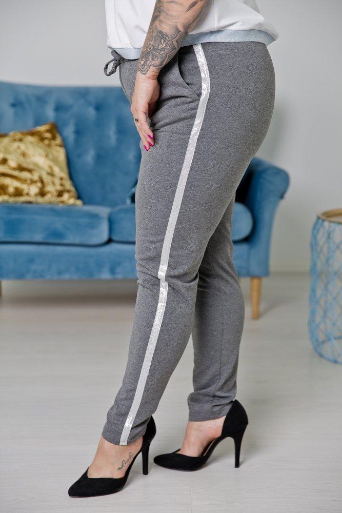 Szare Spodnie MARMO Plus Size