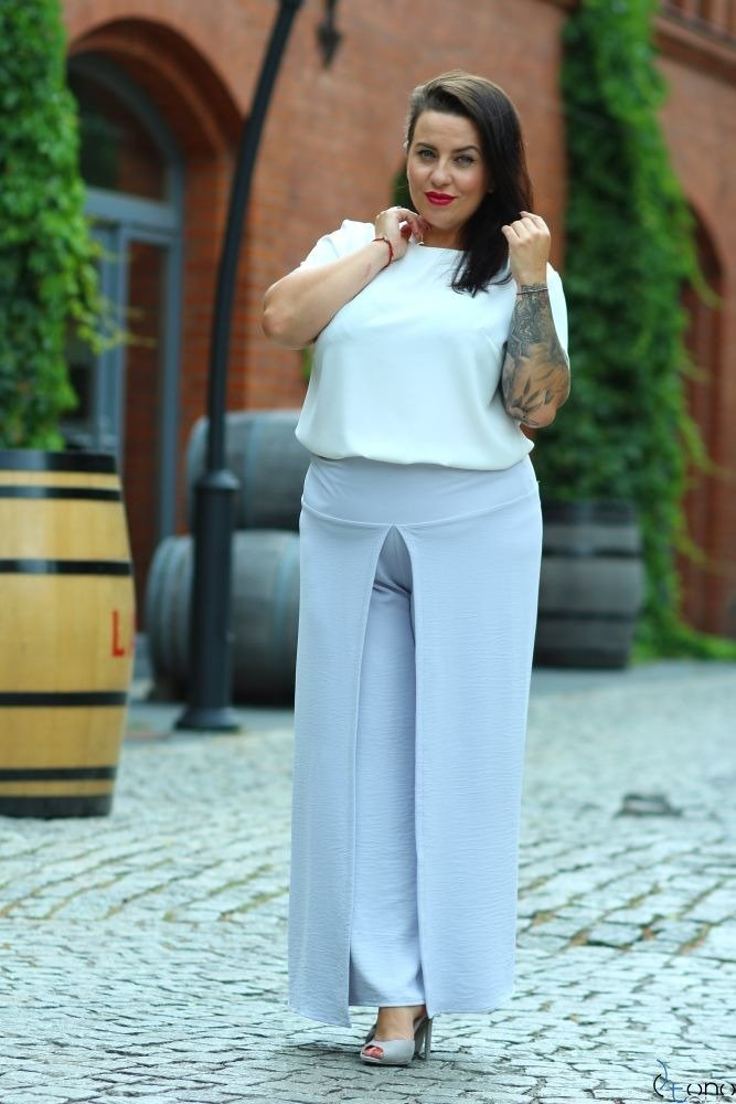 Szary Spodnie MISSY Plus Size
