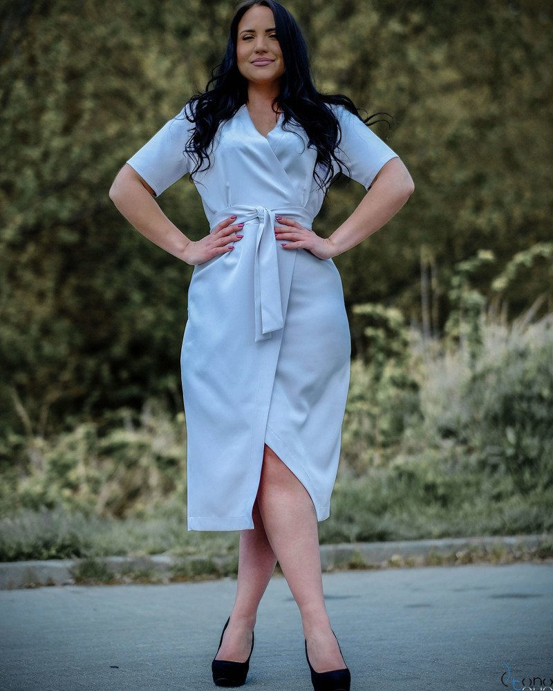 Szary Sukienka FERRITA Plus Size