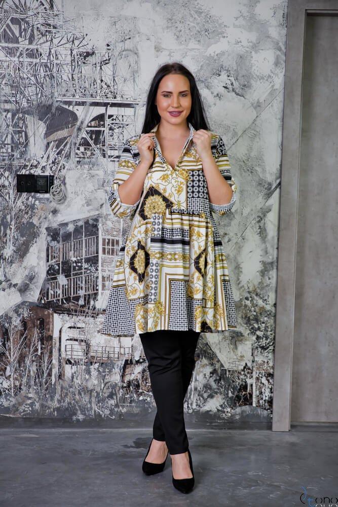 Tunika KAFTA Plus Size Koszulowa Wzór 3
