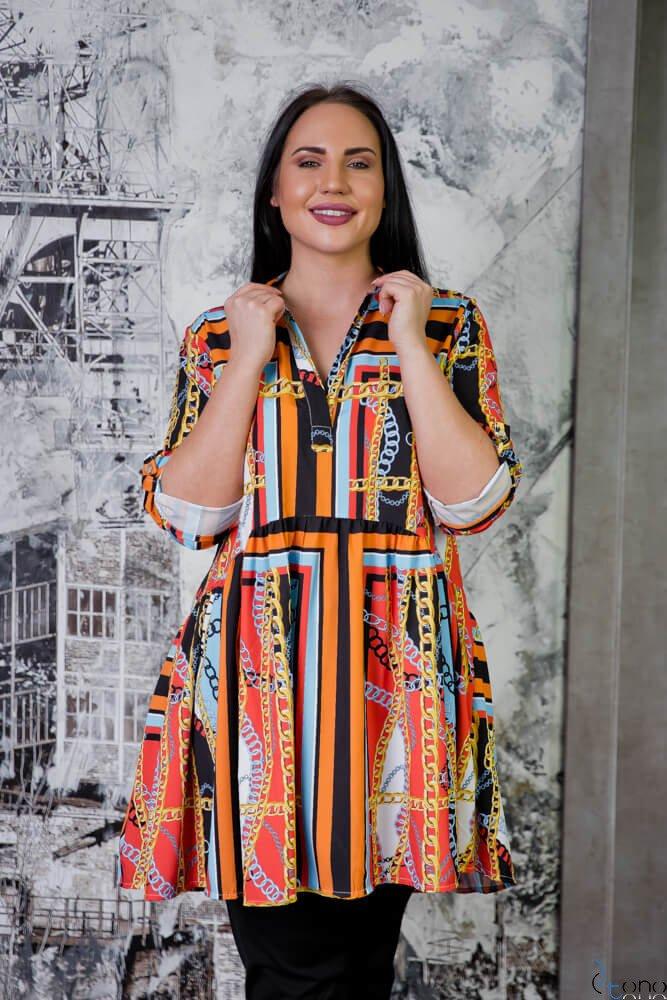 Tunika KAFTA Plus Size Koszulowa Wzór 5