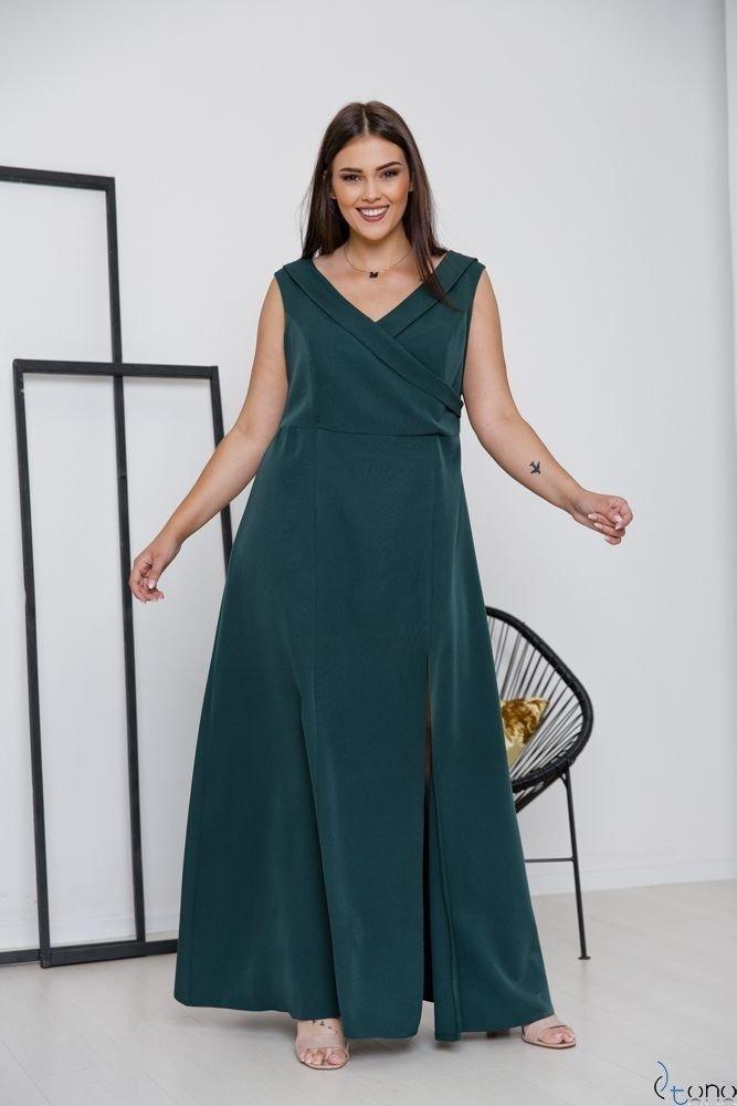 Zielona Sukienka BEATRIZ Plus Size Maxi
