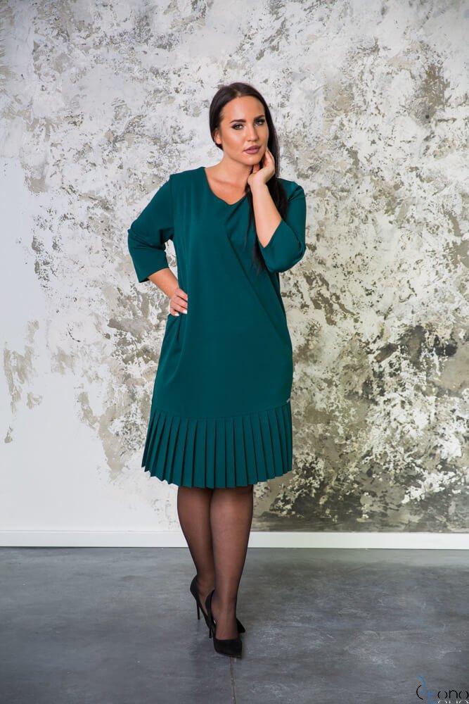 Zielona Sukienka CAMEA Plus Size
