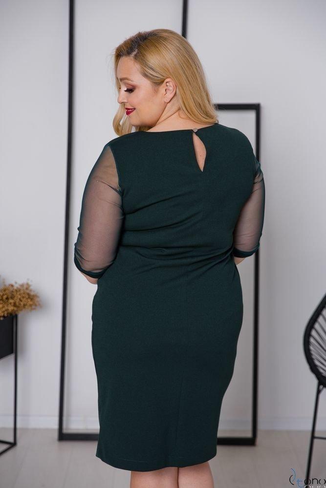 Zielona Sukienka CRAVATTA Plus Size