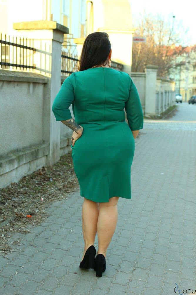 Zielona Sukienka DEVINA Plus Size
