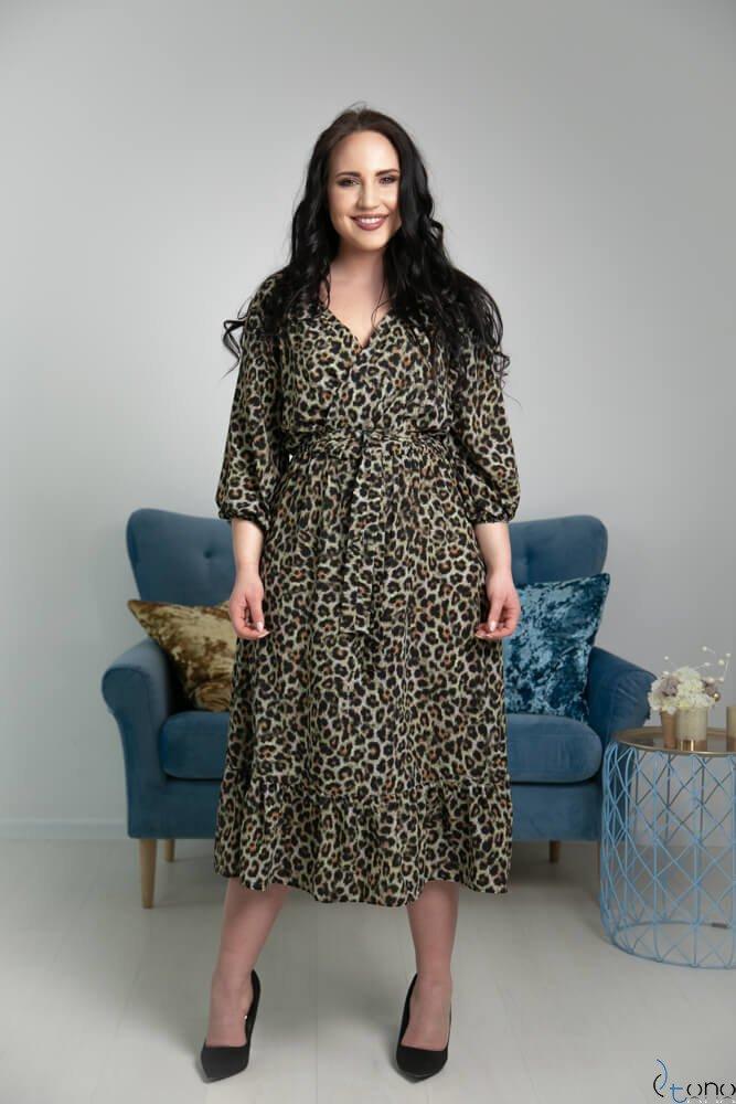 Zielona Sukienka ELICCIA Plus Size
