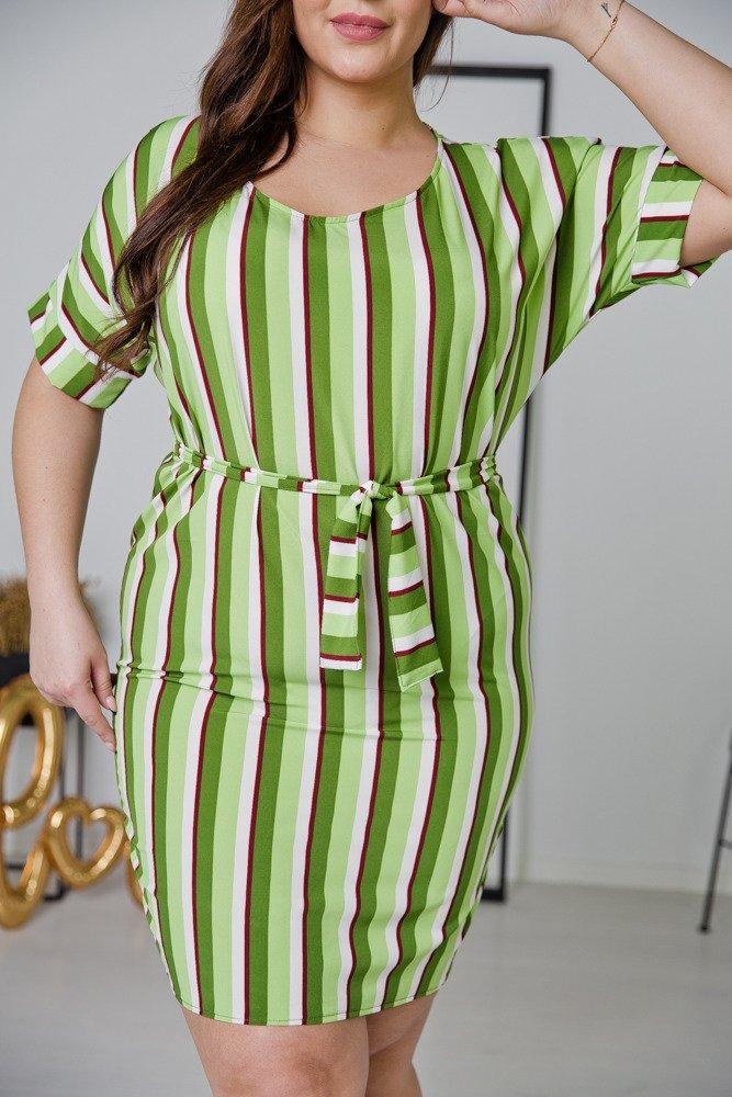 Zielona Sukienka FRENA Plus Size