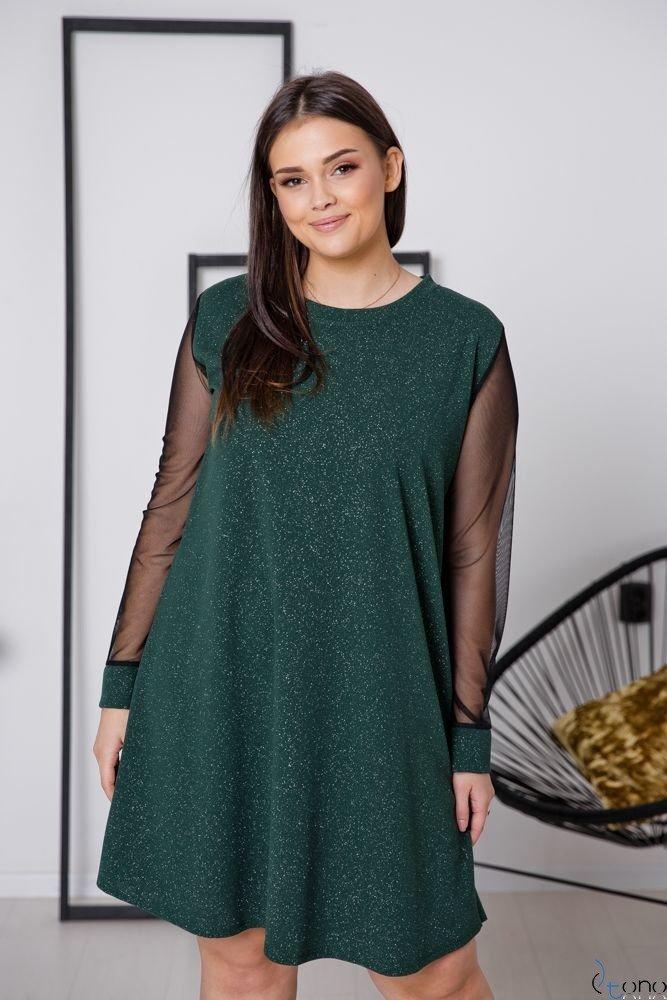 Zielona Sukienka LETICIA Plus Size