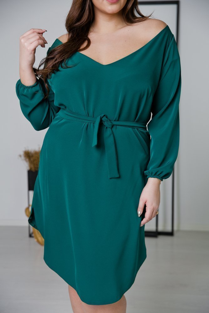 Zielona Sukienka TIANA Plus Size