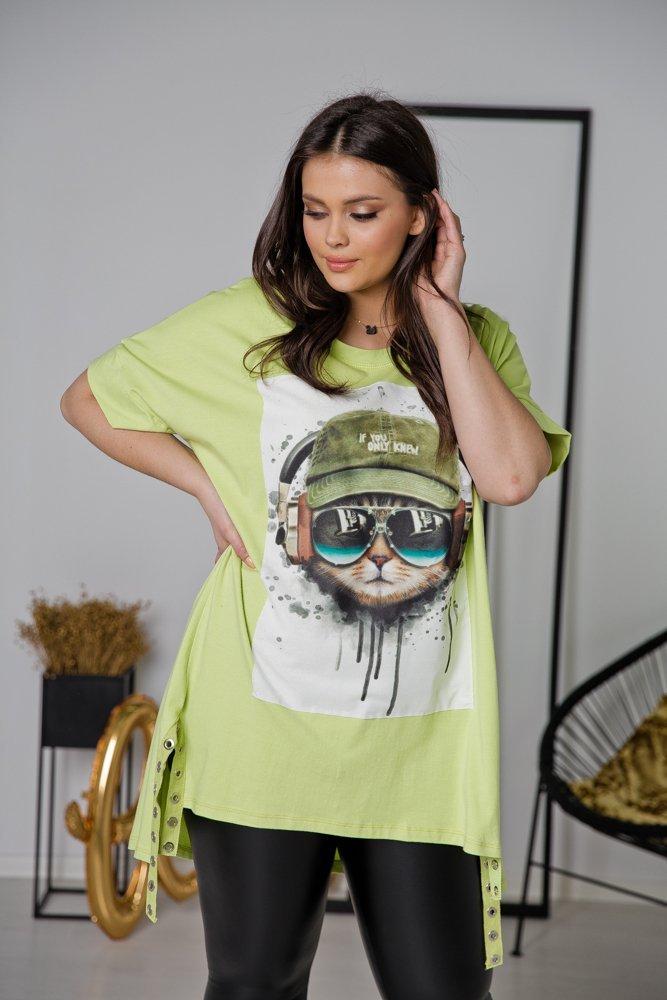 Zielona Tunika KITTY Plus Size