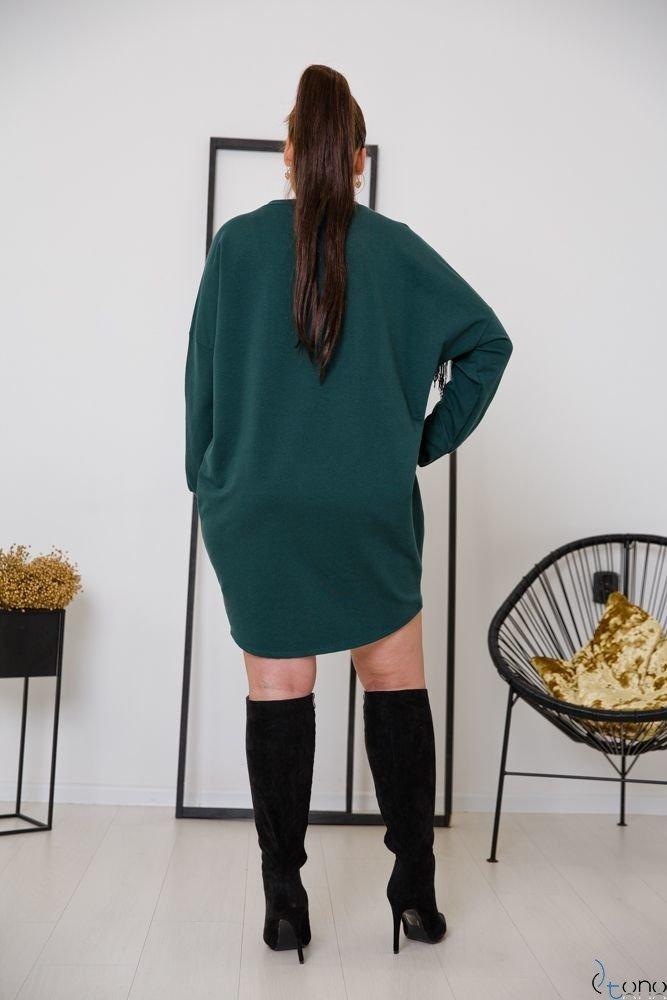 Zielona Tunika VEGGIO Plus Size