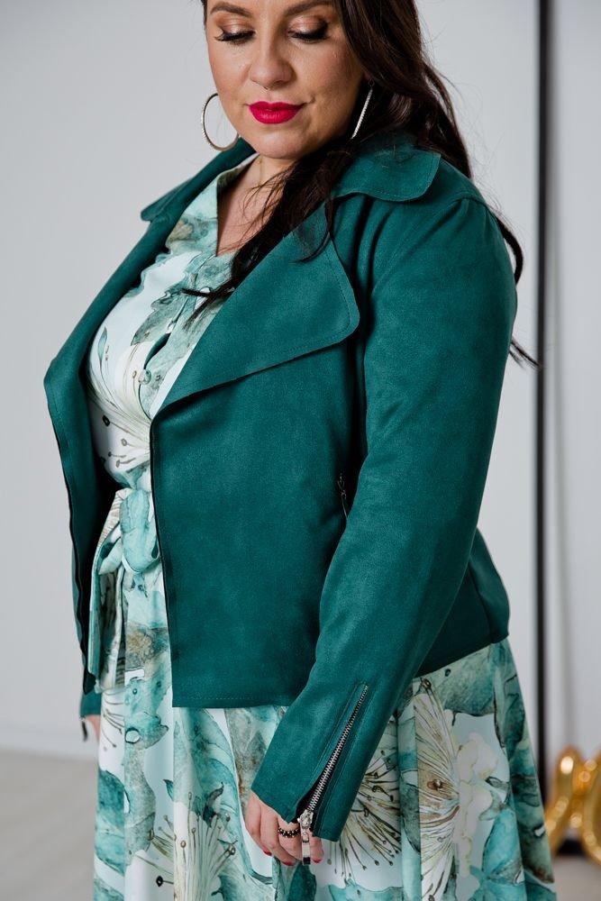 Zielony Żakiet MODALIA Plus Size