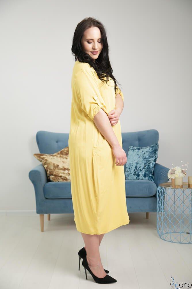 Żółta Sukienka SIMILLA Plus Size