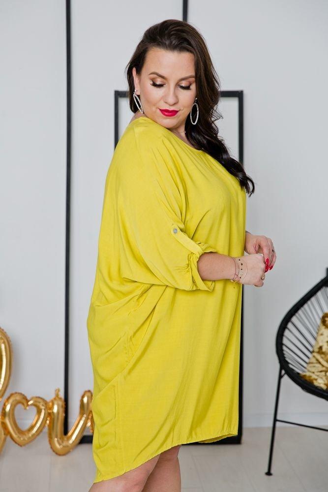Żółta Tunika SALUTA Plus Size