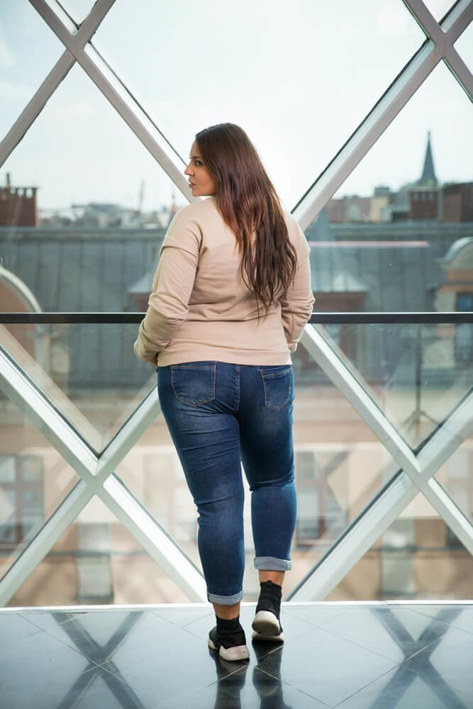 Beżowa Bluza GIOVANNA Casual Plus Size
