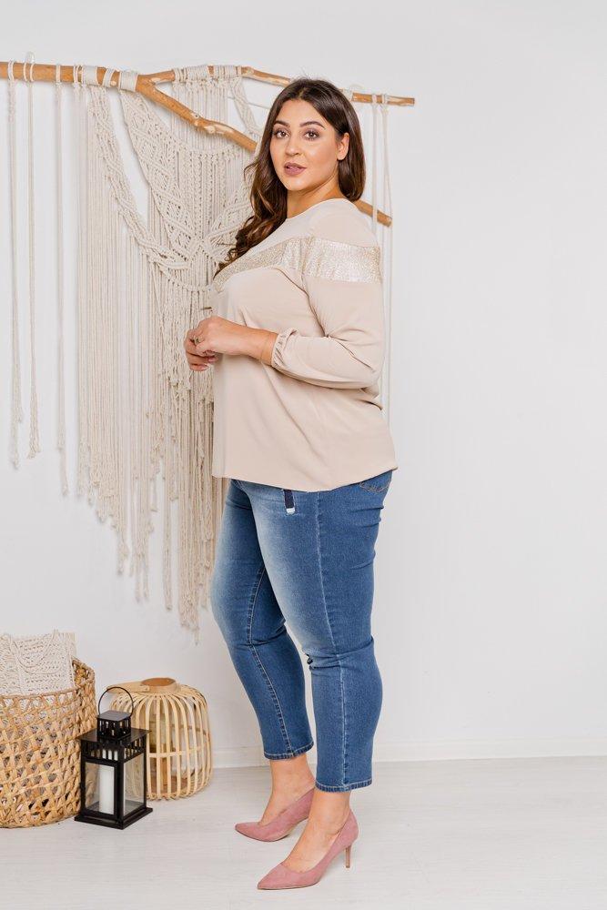 Beżowa Bluzka Simma Plus Size