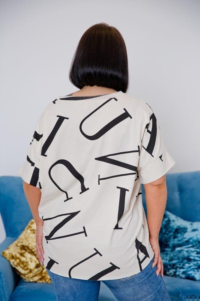 Beżowa Bluzka VICTIVA Plus Size