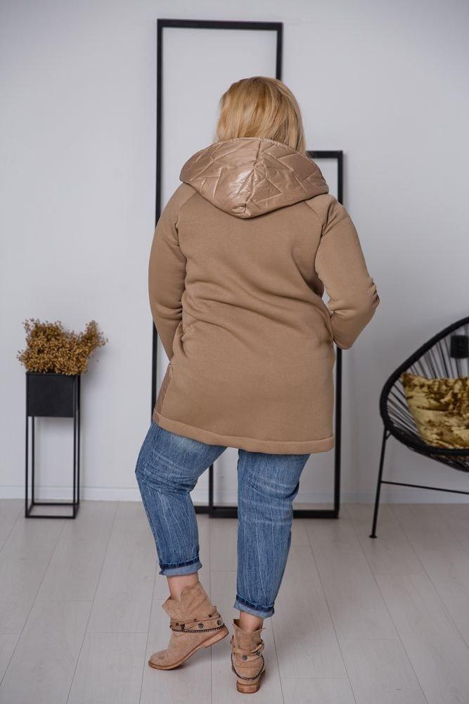 Beżowa Kurtka PACKO Plus Size