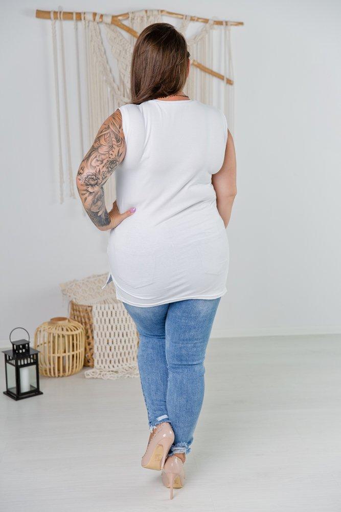 Biała Bluzka BAD GIRL Plus Size