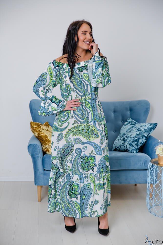 Biała Sukienka BENITA Plus Size Maxi