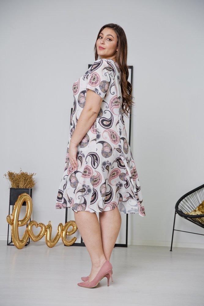 Biała Sukienka LILA Plus Size Wzór 11