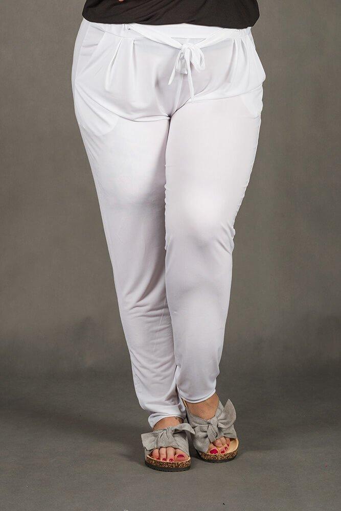 Białe Spodnie SPOKEY Zwiewne Plus Size