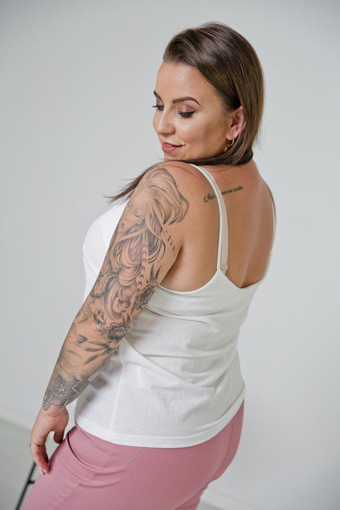 Biały Top DONIS Plus Size
