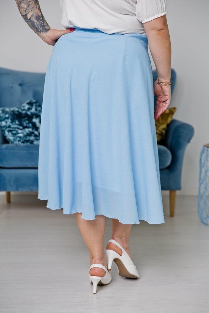 Błękitna Spódnica TONNA Plus Size