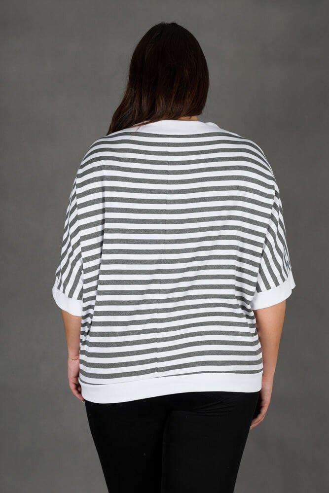 Bluza CERCA Pasy Plus Size