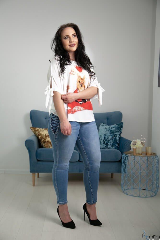 Bluzka BACCI Plus Size Wzór 4