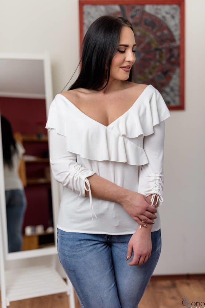 Bluzka Filona Ecru Plus Size