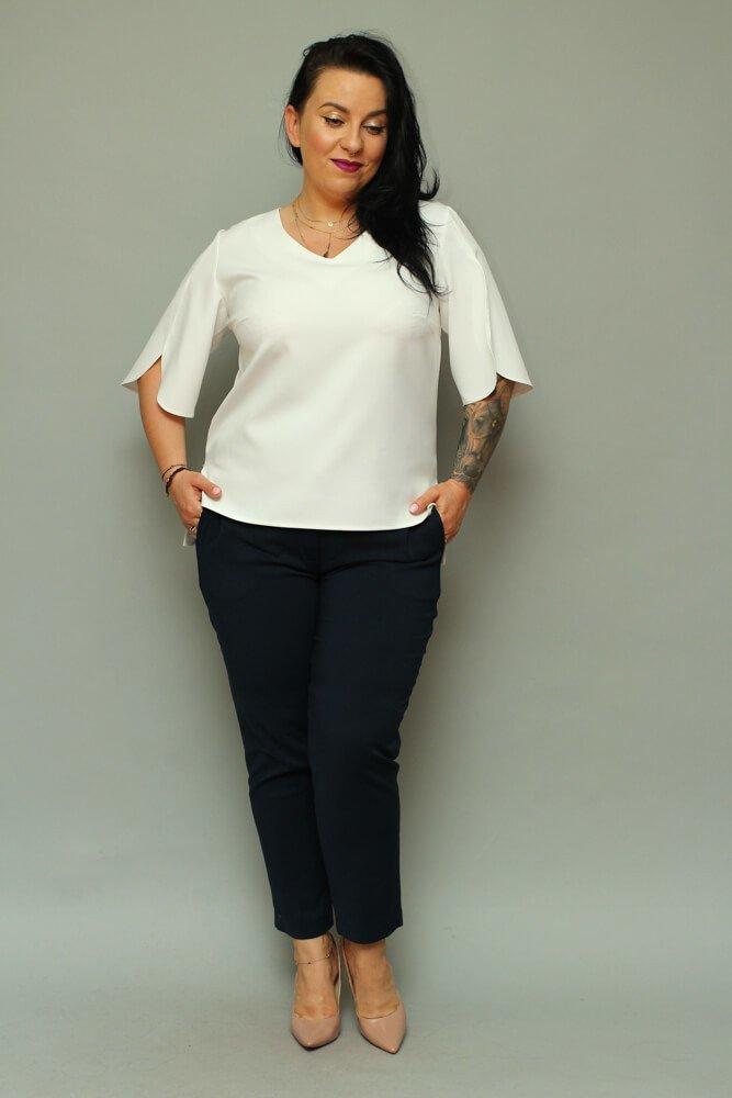 Bluzka LUSSY Plus Size Ecru