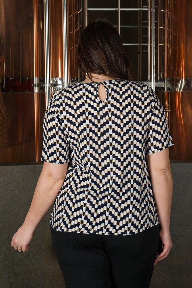 Bluzka damska ALINA duże rozmiary Koszulowa Wzór 4