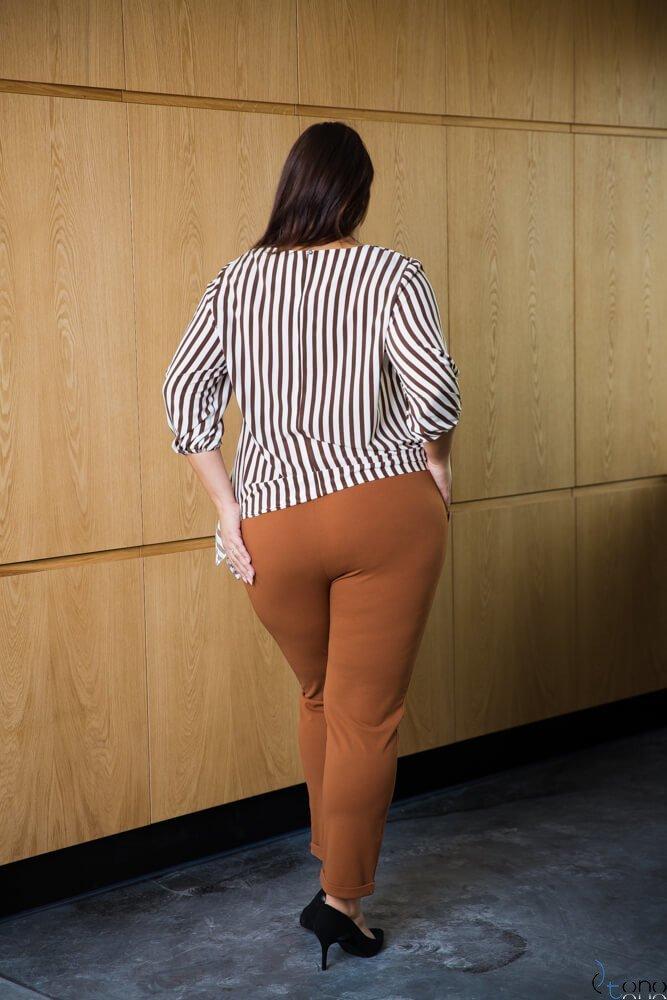 Bluzka damska CAMINA Pasy Plus Size wzór 2