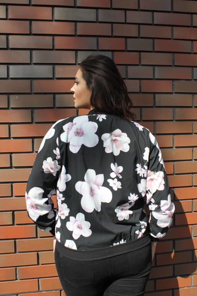 Bomberka Plus Size kurtka damska PRIMAVERA wzór 2